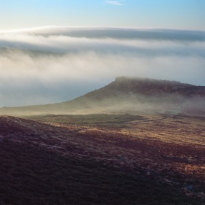 Carl Wark in the Mist - Peak District peak district