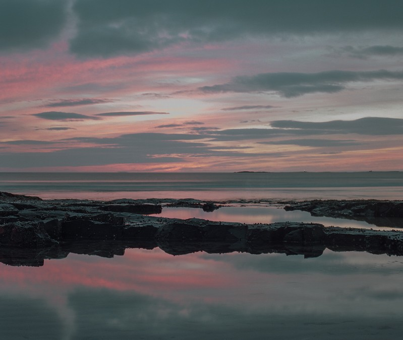 Bamburgh Beach at Sunrise