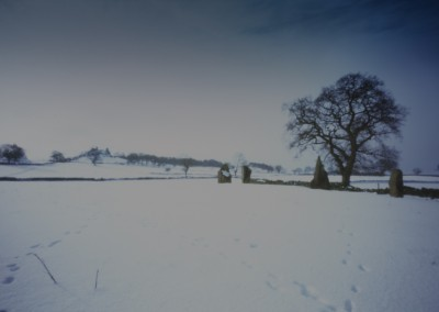 Nine Stones Close in the Snow