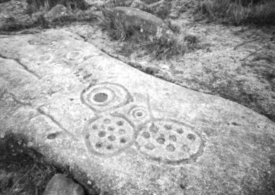 Cup and Ring Marked Stone, Gardoms Edge, Peak District, Gardoms Edge, Derbyshire Peak Distric