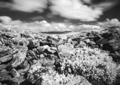 Eyam Moor Long Barrow, Peak District, Infra Red Pinhole