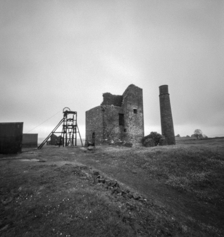 Pinhole image of Magpie Mine, Derbyshire Peak District