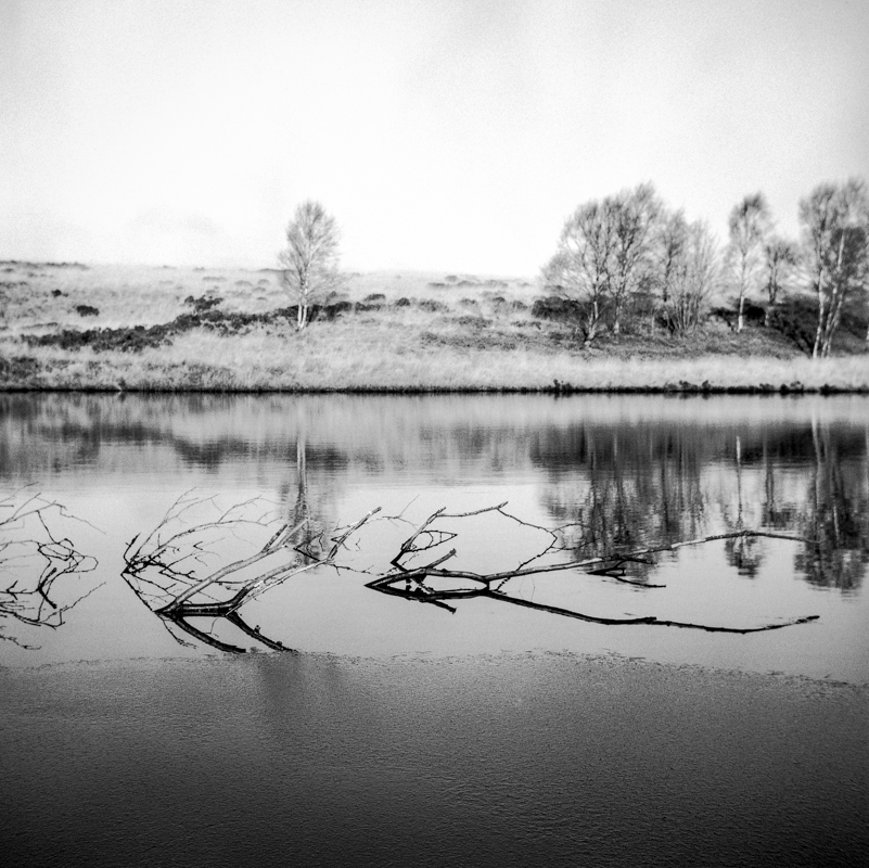 Barbrook Reservoir II, black and white photography, zeiss ikon nettar