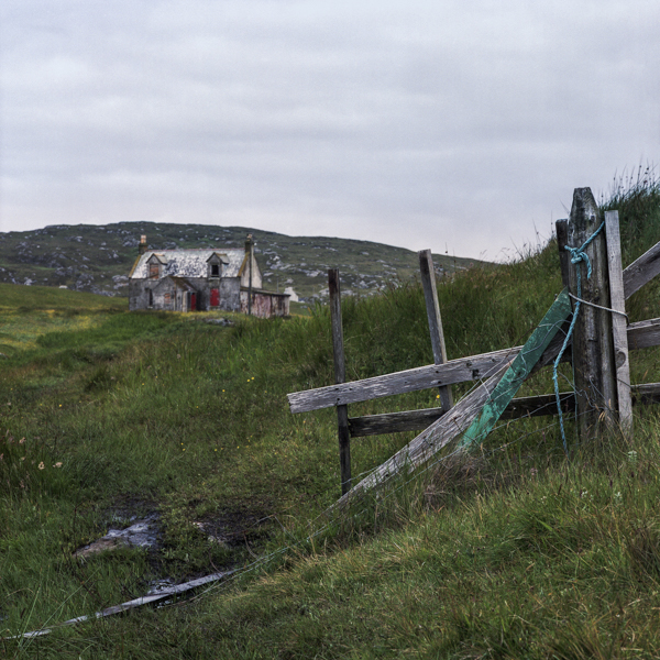 Croft and Fence, Eriskay, Outer Hebrides, decay, abandoned