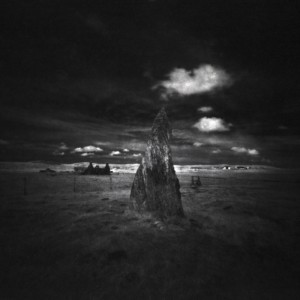 Callanish II Stone Circle, Isle of Lewis, Outer Hebrides, black and white pinhole photography