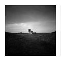 Knowlton Henge Triptych, Dorset, black and white pinhole photography