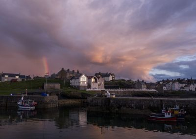 Sunset Rainbow, Port Soy, Scotland