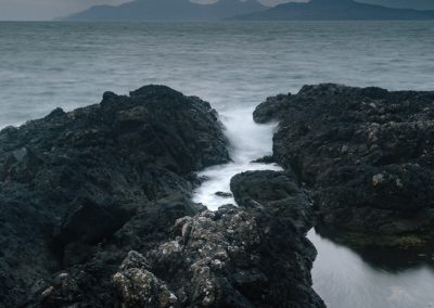 Eigg and Rum from Ardnamurchan, Scotland