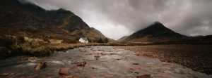 Lagangarbh Hut and River Coupall, Glencoe, Scotland, Buachallie Etive Beag, Scottish Mountaineering Club Hut