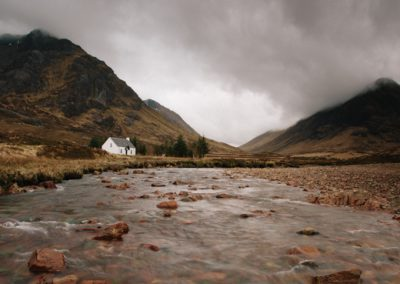 Lagangarbh Hut and River Coupall, Glencoe, Scotland