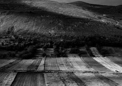 Field system, Santo Stefano di Sessanio, Abruzzo, Italy