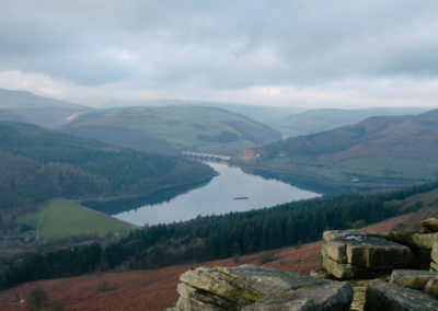 Bamford Edge Looking down on to Ladybower