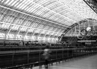 Saint Pancras Station, London - Black and White Xpan