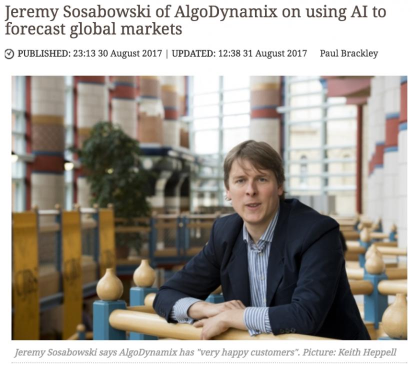 Jeremy Sosabowski of AlgoDynamix