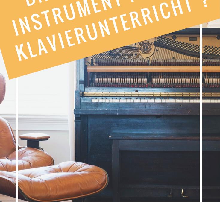 Brauche ich ein Instrument für den Klavierunterricht?