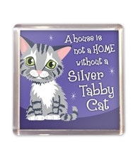 Top Cat Silver Tabby Cat Magnet