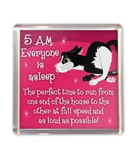 Top Cat Black & White Cat Magnet