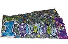 Party Banner 1st Birthday Large Party Wall Banner - Multicoloured