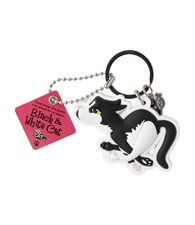 Top Cat Black and White Cat Keyring