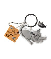 Top Cat Grey Cat Keyring