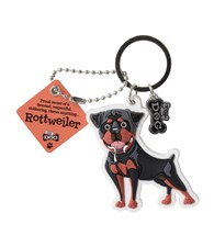 Top Dog Rottweiler Keyring