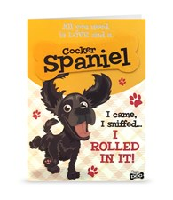 Top Dog Black Cocker Spaniel Greeting Card