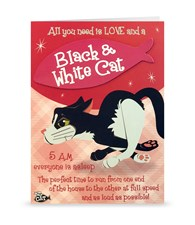 Top Cat Black And White Cat Greeting Card