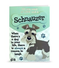 Top Dog Schnauzer Greeting Card