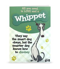 Top Dog Whippet Greeting Card