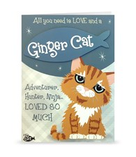 Top Cat Ginger Cat Greeting Card - All You Need Is Love