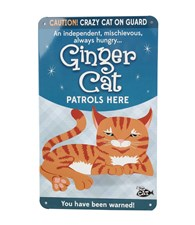 Top Cat Beware Of The Cat - Cute Ginger Cat Plaque