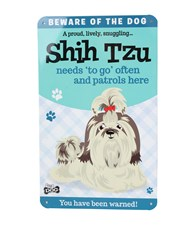 Top Dog Beware Of The Dog - Cute Shih Tzu Plaque