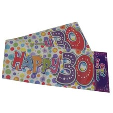 Party Banner Birthday '30th Today' Banner - Multicoloured Holographic