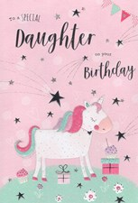Birthday Daughter Card - Unicorn