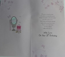 Happy 21st Birthday Daughter 3-D Large Card - Dressing Table Design