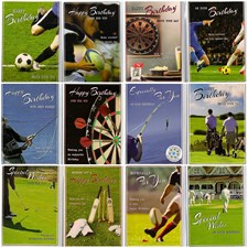 Birthday Assorted Sports Cards - Pack of 12