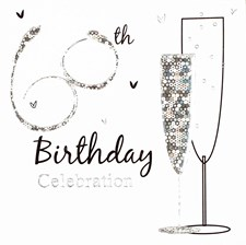 Silver Shimmering 60th Birthday Party Invitations (Holographic) - Pack of 6