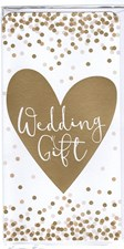 Wedding Gift Money Wallet/ Gift Three Fold Card - Golden Heart