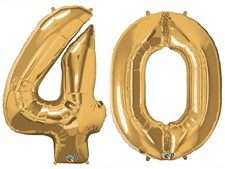 "Qualatex Gold Giant 34"" Number '40' Foil Balloon Pack"