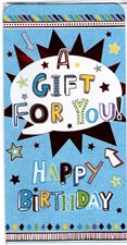 Money Wallet/ Gift Three Fold Card - Happy Birthday A Gift For You