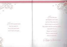 Anniversary 25 Years Mum & Dad Card – Champagne and Roses