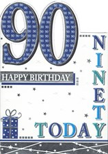 Birthday Age 90 Card - 90 Today