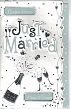 Wedding Day Card – Champagne and Glasses