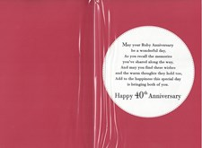 Anniversary 40th Card - 40 Years Together
