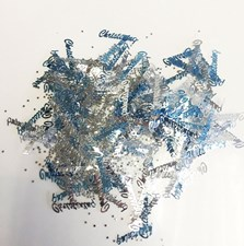 Party Christening Confetti - Blue and Silver Stars