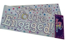 Party Banner Congratulations On Your Engagement - You're Engaged