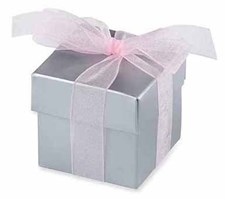 Silver Wedding & Occasion Favour/Gift Box – Pack of 10