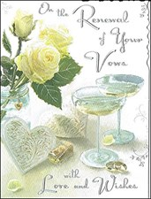 On The Renewal Of Your Wedding Vows Card - With Yellow Roses