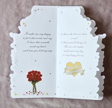 Anniversary Wife Card - Bouquet Of Roses