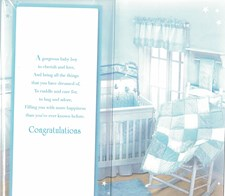 On The Adoption Of Your Son Card - Silver Pram & Toys